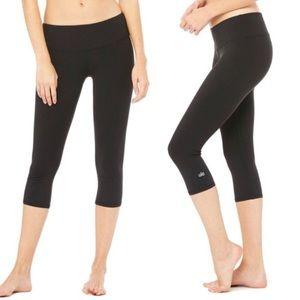 ALO Yoga Cropped Black Leggings Sz S